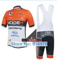 New cycling clothing set ! 2014 NODE4 SUBARU cycling jersey short sleeve and bicicleta bib shorts/ ropa ciclismo men Hot !!
