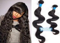 Brazilian Virgin Hair Body Wave Human Hair Weave Wavy 12''-24'' Mixed Length