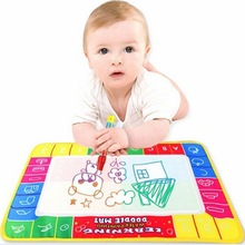 NEW 29x19cm Baby Kid Water Drawing Mat with Magic Pen Aqua Doodle Child Painting Learning Coloring Writting Board(China (Mainland))