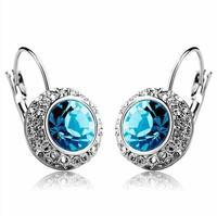 (mix order) Free Shipping & Fashion Shiny Full Austrian rhinestone Crystal stud Earring wholesale