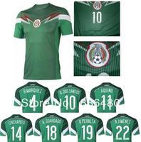 2014 best thai quality Mexico green jersey marquez g dos santos aquino chicharito guardado peralta jimenez fans soccer jersey