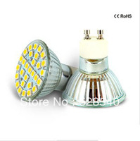 Free Shipping 12piece/lot LED GU10 220V 6W 500-550LM 29 SMD 5050 Spot Light