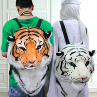 Free HKPOST fashion distinctive 3D Tiger head backpack bigbang gd women backpacks 3D tiger bag BIGBANG GD