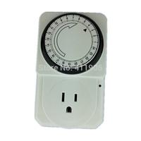 AC 110V USA Plug Light Timer 24 hours programmable analog switch timer controller aquarium grow timer Freeshipping