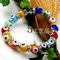 Fashion Turkey Glass dark blue Evil eyes Charm Bracelet jewelry,Women Bracelet,20pcs/lot,Wholesale,Free Shipping,ZL002
