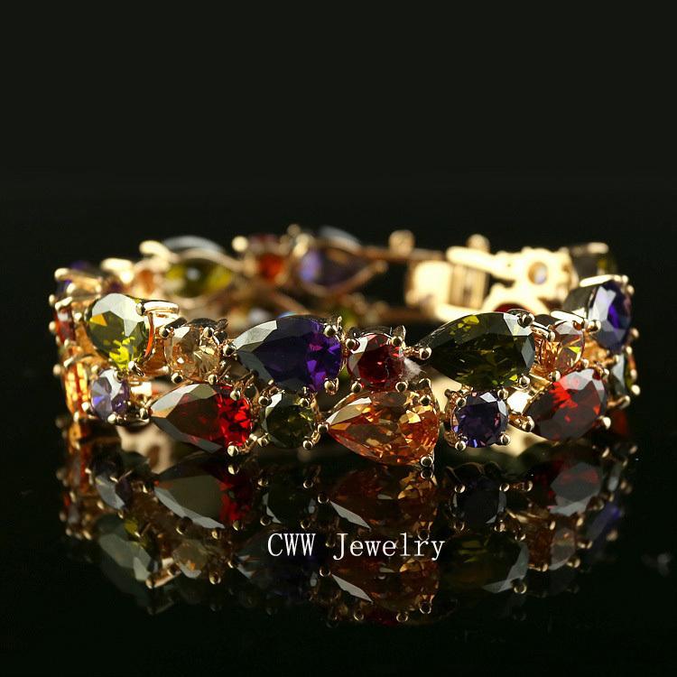 Браслет с брелоками CWW 18K CZ CB017 браслет с брелоками seendom jewelry 925 pulseiras cz xoxo pbs105