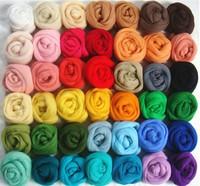 36 Colors Merino Wool Fibre Roving For Needle Felting Hand Spinning DIY Fun Doll Needlework Raw Wool Baize poke poke fun 5g/bag