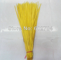 Free Shipping 100PCS 50-55cm 20-22 inches YELLOW Carnival dyed Pheasant tail feathers Dying ringneck pheasant feather