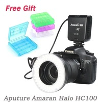 Aputure Amaran Halo HC100 LED Macro Ringflash Light/ Ring Light for Canon EOS 5D Mark II III 5D2 7D 6D 70D 700D 650D 60D 600D