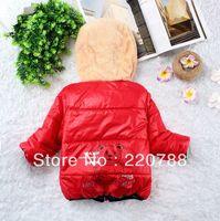 Free  shipping Lovely Panda Baby Winter Jackets Girl And Boys Hoodies Fleece Animal Coats