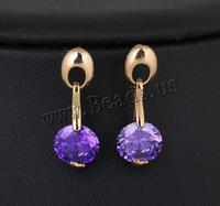 Fine Jewelry 18K Gold Plated Drop Earrings for Women ,Fashion Jewelry Graceful with cubic zirconia Earings