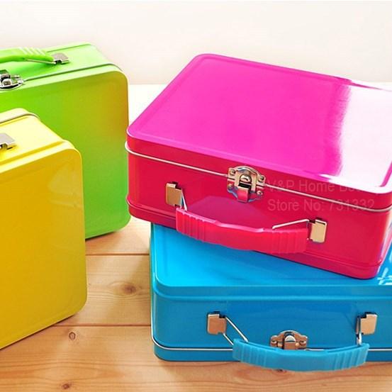 4 pcs/Lot Tin handbag Luxury grip storage box Multi candy color design box canister casket case Novelty Girl gift zakka 8734(China (Mainland))