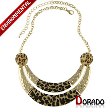 2015 New Design High Quality Vintage Leopard Jewelry Woman s Statement Chokers Necklaces Pendants Christmas Gift