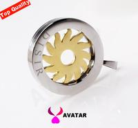 rotatably sun charms men and women jewelry titanium steel pendant unisex gift