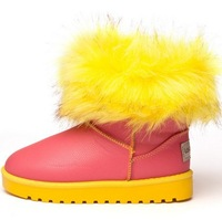 2014 new winter child snow boots, children shoes, child boots, girls pink winter shoes,red bottom shoes
