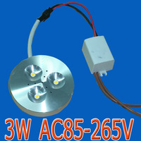 3W 110V 120V 220V aluminum shell Edison LED puck light cabinet lights under display counter surface mounted ceiling downlight