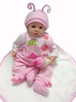New fashion reborn baby dolls lifelike Soft silicone vinyl brinquedos 100%handmade reborn babies doll for children