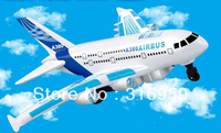 New  Franch AirBUS plane  A380 4ch Remote Control glider airplane A380 with Led Light Music RC mini A380 aeroplane Toys
