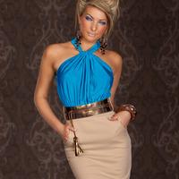 Free shipping!2014 spring summer fashion women  exquisite  sleeveless strapless slim elegant office work party dreess cCA473