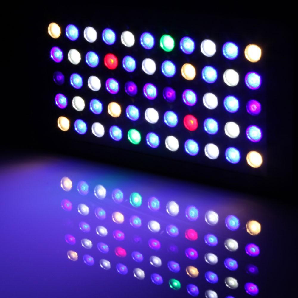 2014 adatto per 24''x24'' dimmable165w serbatoio acquario di illuminazione a led spettro completo barriera corallina lps/sps+ 3 anni di garanzia