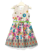 free shipping 6 pcs/lot kid's summer dress girl's wear dress girl's princess dress girl's lovable dress