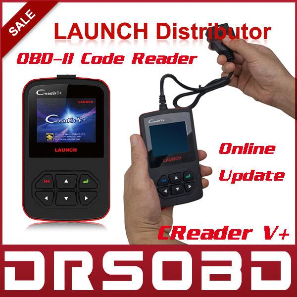 [5pcs/lot] 2015 New Released LAUNCH CReader V+ OBD2 Code Reader 100% Original CReader V Plus Free Online Update + Multi-Language(China (Mainland))