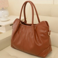 Classic brief style women fashion leather handbags new arrival ladies solid elegant all-match shoulder bag female PU casual tote