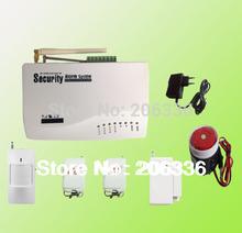 Vente chaude deux antennes intercom sécurité système d'alarme GSM avec la russie manuel 900 / 1800 / 1900 Mhz(China (Mainland))