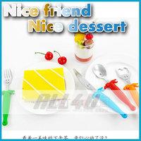 4pcs/set lovely smile-shaped gift box stainless steel kid tableware colorful children Dinner Set spoon+fork+knife+bottle opener