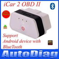 Original!Vgate Icar2 Bluetooth OBD Scanner Icar 2 Elm327 Diagnostic Interface Icar 2 OBD2 Solution For Cars Support Torque