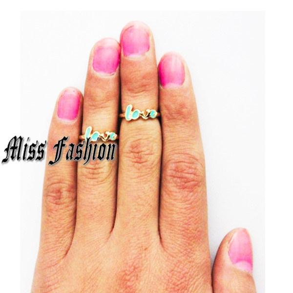 2013 Fashion New Ring , Set Of 2 Hot Just In Free Shipping Love Knuckle Midi Ring Set(China (Mainland))