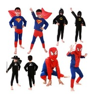 Children Boys Kids Batman Spiderman Superhero Superman Costumes Halloween Cosplay Clothes