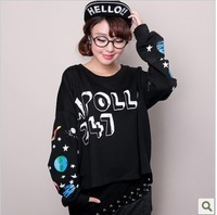 Fashion Women's  Korean Style Personality Handwriting Hoodies for Promotion