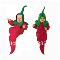 Retail-chilli pepper Baby sleeping bag/Baby Costume/Baby Sleeping Bag/Modeling Baby Sleeping Sack