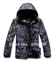 Free shipping 2014 Ski jacket white duck brand down jacket men printing coat warm waterproof windproof hooded rlx