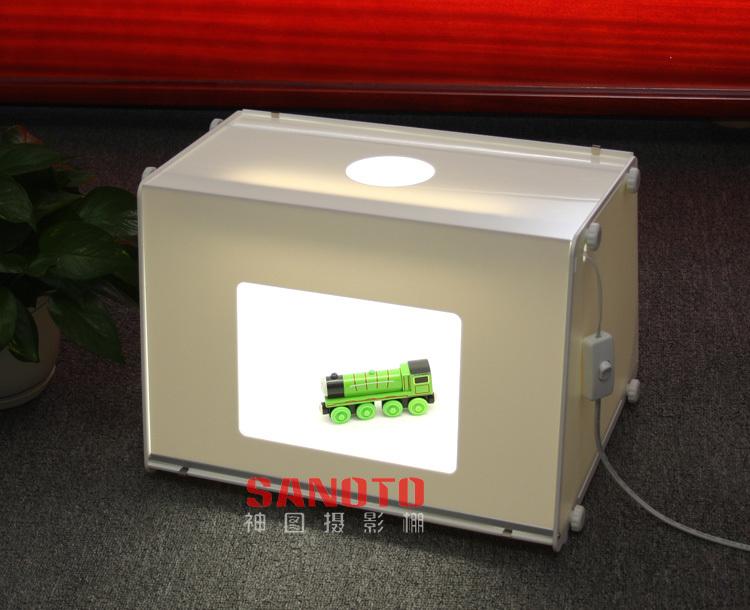 Free Shipping by DHL SANOTO Portable Mini Photo Studio Photography Light Box Photo Box MK40 For Network (EBAY) seller 220/110V(China (Mainland))