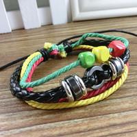 VB266 Wholesale 2014 New Items Bracelets & Bangles For Women Leather Bracelet  Colorful Handmade Bracelet Gifts High Quality