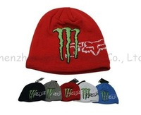 Free Shipping 2013 F1 racing Car knitted ski winter set head Rossi baseball 100% cotton motorcycle sports hat cap Christmas gift