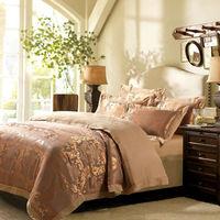 Luxury Jacquard embroidery Tencel cotton 4pcs bedding sets,Bed Set,bed linen,duvet/quilt cover,bedsheet,pillowcases,home textile