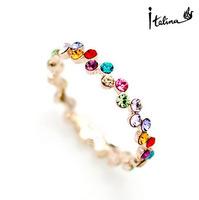 Real Italina Rigant Genuine Austria Crystal  18K gold Plated Pearl Rings for Women Enviromental Anti Allergies  #RG95241