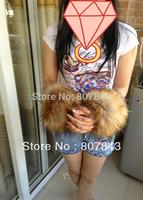 NEW2013  Luxury Women Faux Raccoon Fur Short Winter Wrist Arm Warmer Cuff Wristband