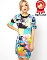 Женский пуловер New Brand Colorblock WXY0232