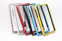 6pcs/Lot Wholesale Dual-color Design Bumper Frame  Soft TPU Case Cover for Blackberry Z10 Free Shipping