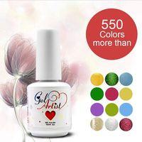 12pcs New Gelartist UV Gel Nail Polish 58 Colors 15ml 0.5oz (1 Base + 10 Colors + 1 Top) Free shipping  3-5 days