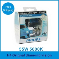 Orignal diamond vision 5000k H4 car halogen bulb car lights headlight
