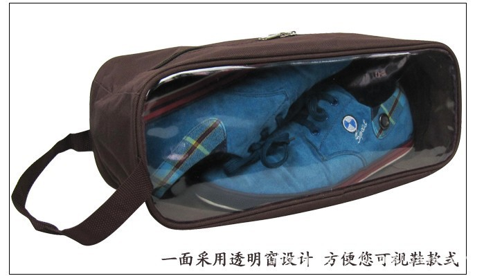 Free shipping hot sale 2014 polyester waterproof shoe bag for woman and men shoe bag storage very convenient travel storage bag(China (Mainland))