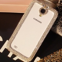 2013 New Design Transparent shell  Rhinestone Chain case for Samsung GALAXY S4 case for I9500 fashion phone shell free shipping