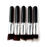 4Pcs/Lot New Hot Silver Soft Synthetic Large Cosmetic Blending Foundation Makeup Brush 01 #46616