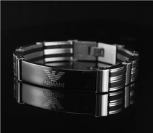TOP QUALITY Classical 3 Rows Stainless Steel Bracelets For Men   B-0006