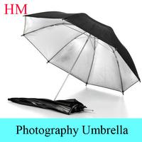 "Tracking Number+ New photo umbrella size 33""83cm Photo Studio Flash Light Reflector Reflective Black Sliver Photography Umbrella"